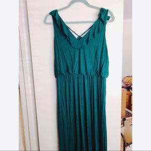 Emerald LOFT Silky Maxi Dress